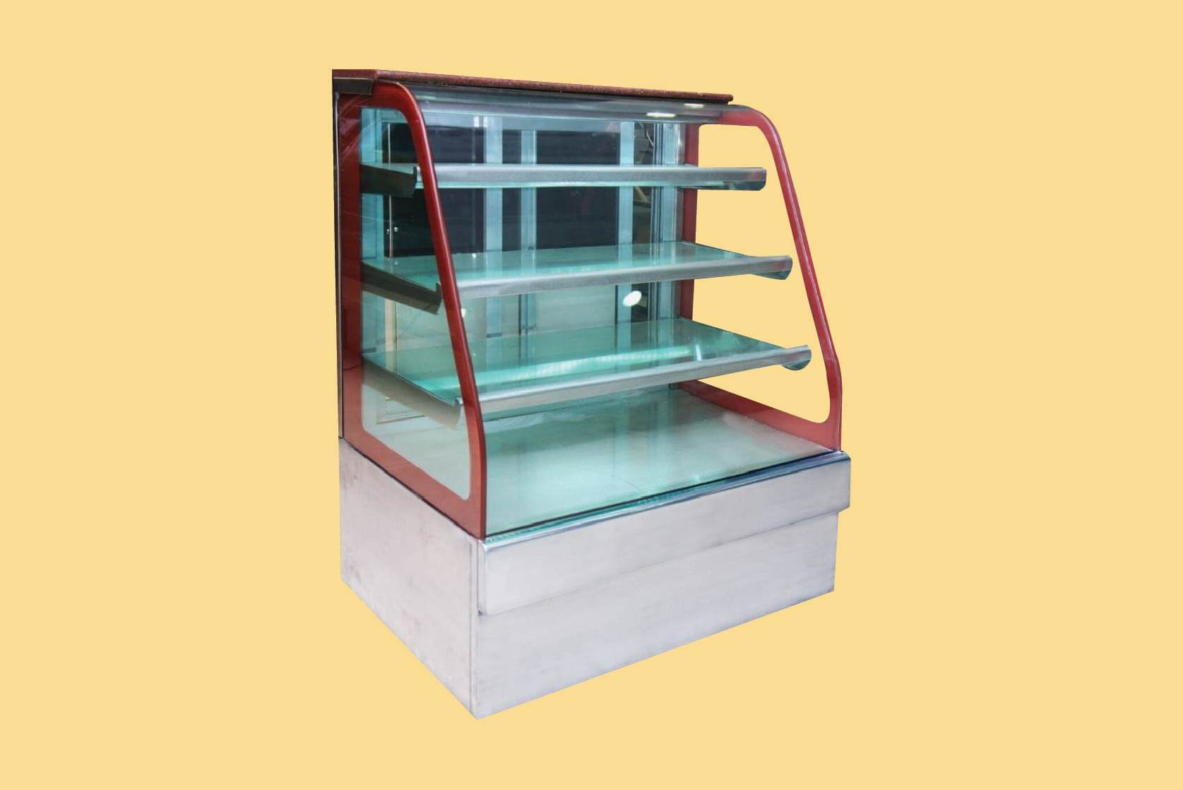J Type Bend Glass Display Counters