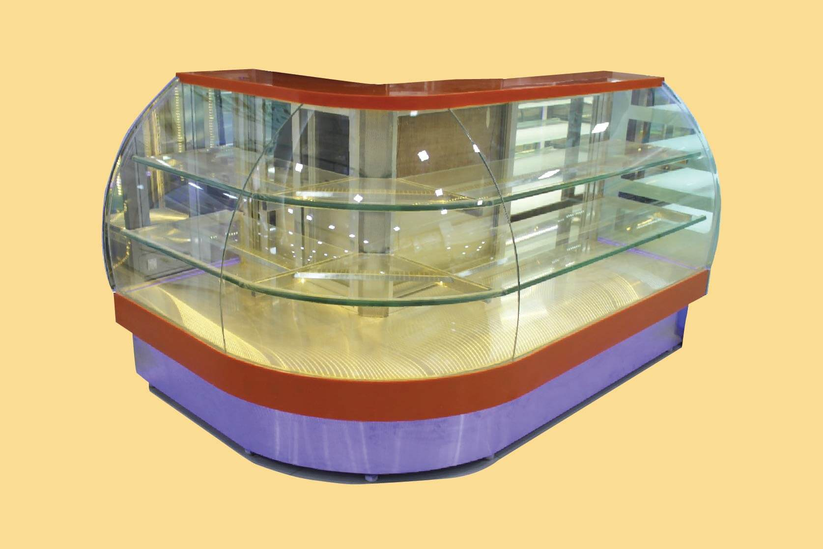 L Shape Display Counters