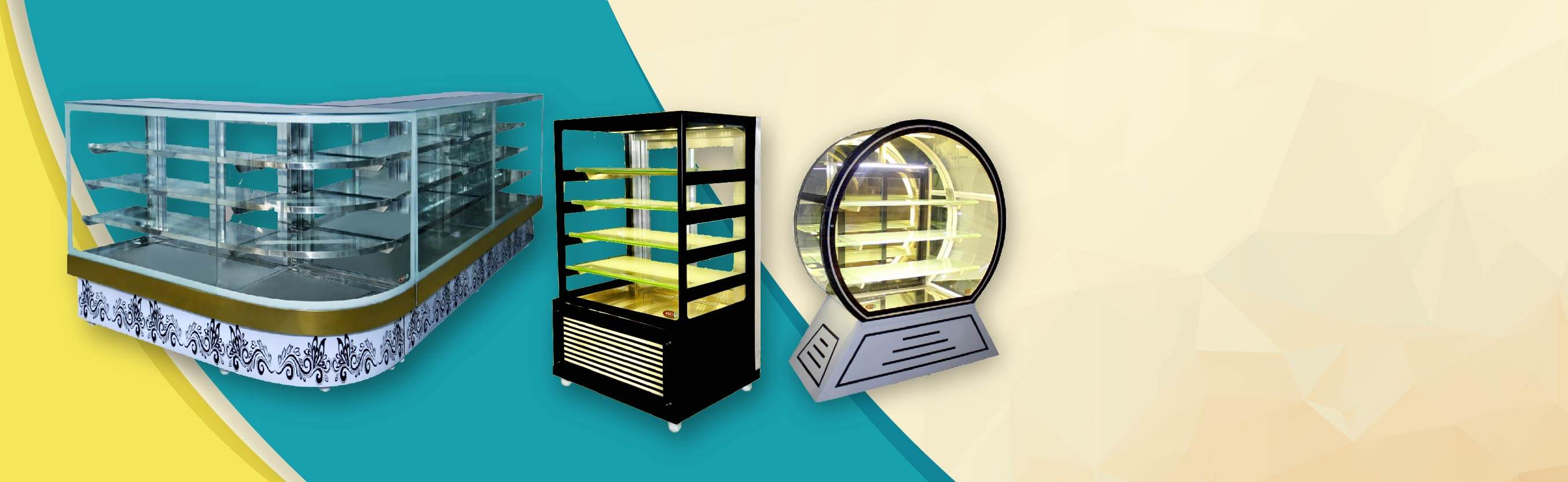 Straight, Bend & Round Type Display Counters